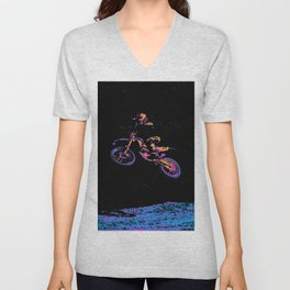 AIR TIME - Motocross Sports Art Unisex V-Neck