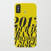 tour de france iPhone & iPod Cases featuring 2013 Tour de France: Maillot Jaune by Dushan Milic
