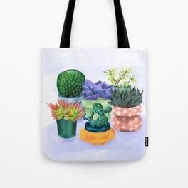 Succulent Garden House Plants Tote Bag