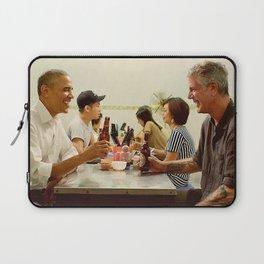 anthony bourdain and barack obama Laptop Sleeve