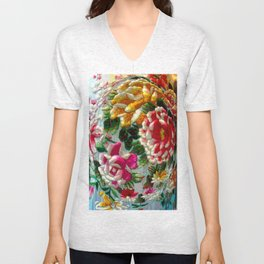 Chintz Egg Unisex V-Neck