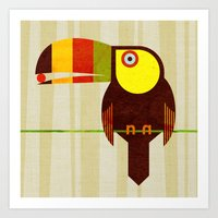 toucan Art Prints featuring Toucan by Scott Partridge