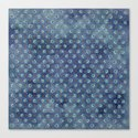 Amazing Watercolor Snowflakes Pattern on the dark blue background by catyarte