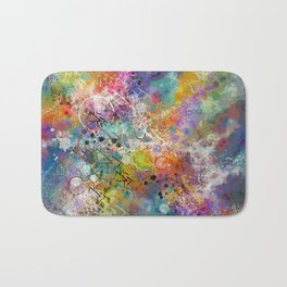 PAINT STAINED ABSTRACT Bath Mat