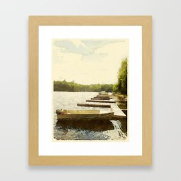 Lily Bay Docks, Maine Framed Art Print
