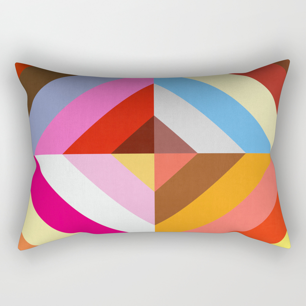 Vibrant And Colorful Pattern Vii Rectangular Pillow RPW8473117