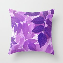 Ultra Violet Purple Leaves Throw Pillow