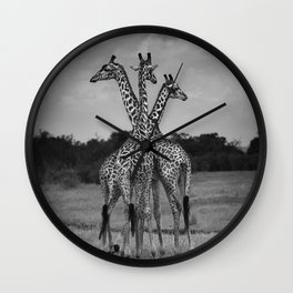Giraffe Trio Wall Clock
