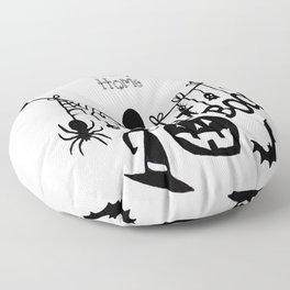Home Scary Home Bats Pumpkin, Black Cat, Voodoo Doll, Ghost, Spider Floor Pillow