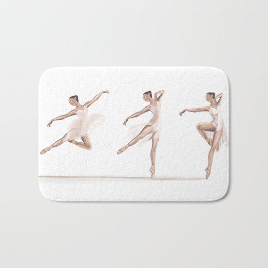 Ballet Dance Moves Bath Mat
