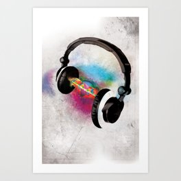 feeling sound Art Print