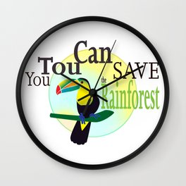 You TouCan Save The Rainforest Wall Clock