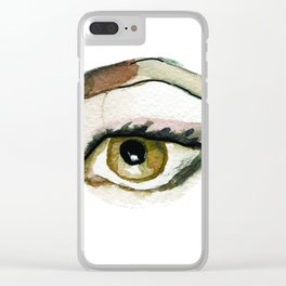 Brown eye Clear iPhone Case