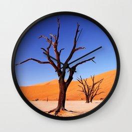 Dead Vlei Namibia III Wall Clock