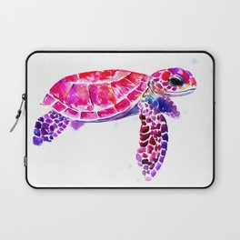 Purple Turtle Bright Pink, purple blue turtle illustration, children room decor Laptop Sleeve