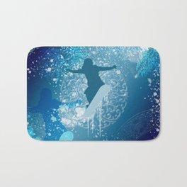 Snowboarder Bath Mat