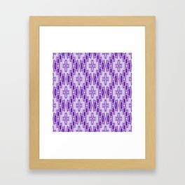 Diamond Pattern in Purple and Lavender Framed Art Print