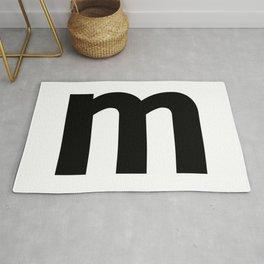 letter M (Black & White) Rug