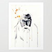 dumbledore Art Prints featuring Dumbledore by Tove Bergqvist