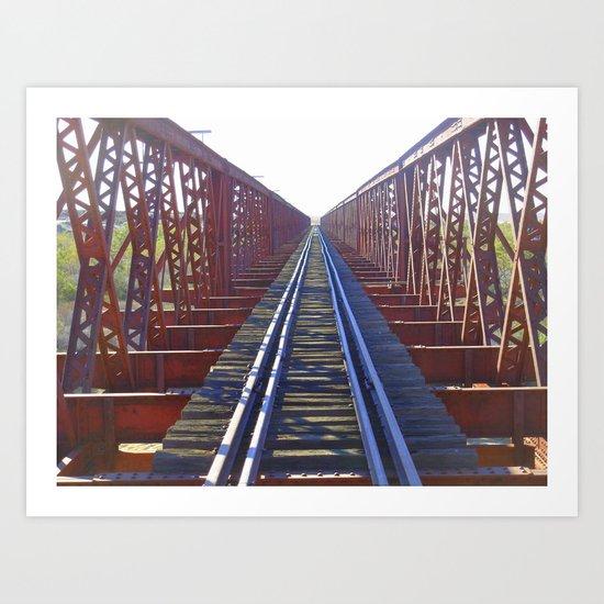 Abandoned railway tracks Art Print