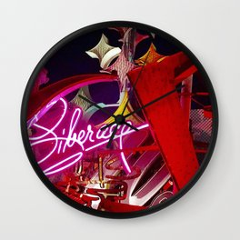 Neon Boneyard Wall Clock