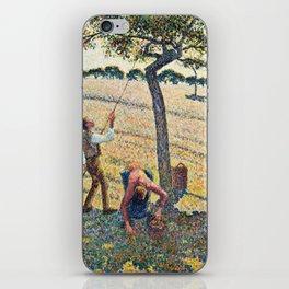 Camille Pissarro - Apple Harvest iPhone Skin