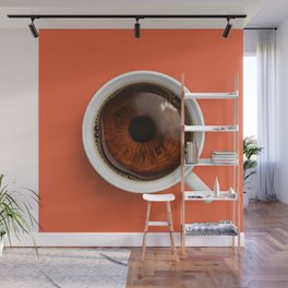Coffee Eye Wall Mural
