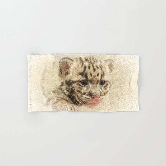 CUTE CLOUDED LEOPARD CUB Hand & Bath Towel