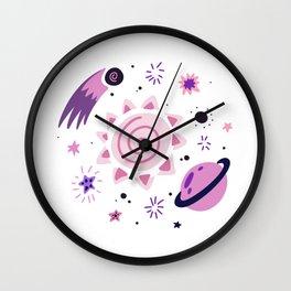 Cosmic luminaries. Galaxy. Wall Clock