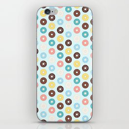 Donuts — Blue Background iPhone Skin