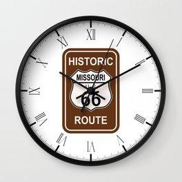 Missouri Historic Route 66 Wall Clock
