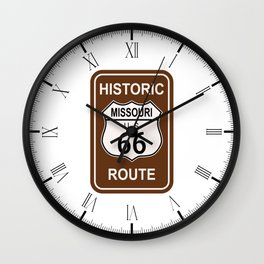 Missouri Historic Route 66 Wall Clock