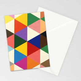 Color And Shape Triangles Stationery Cards
