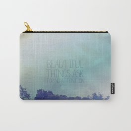 The secret life of walter mitty.. beautiful things quote Carry-All Pouch