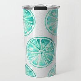 Turquoise Citrus Travel Mug
