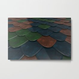 Pattern of colorful rounded roof tiles Metal Print