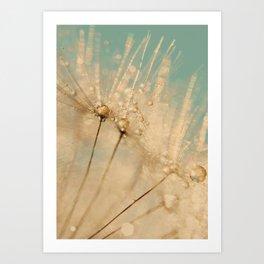 dandelion gold and mint Art Print