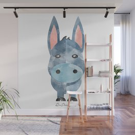Water Colour Baby Donkey Wall Mural