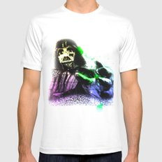 UNREAL PARTY 2012 DARTH VADER STAR WARS MEDIUM Mens Fitted Tee White