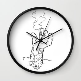 Lifted Above Wall Clock