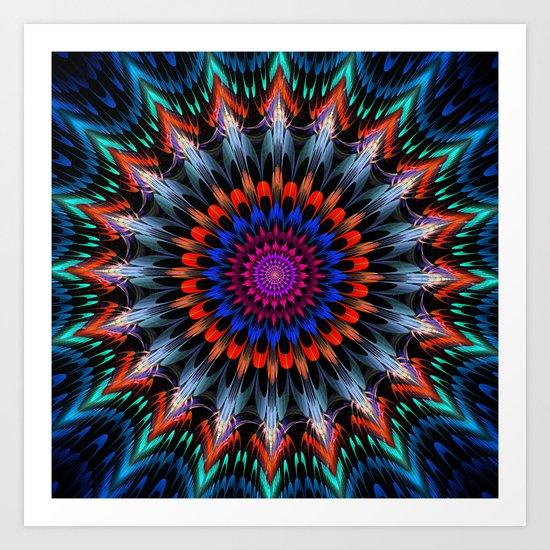 Full Bloom, multi-color design Art Print