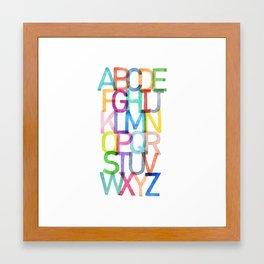 ABCs Framed Art Print