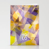 sayings Stationery Cards featuring Dreams of YOLO Vol.1 by HappyMelvin