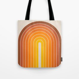 Gradient Arch - Vintage Orange Tote Bag