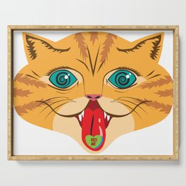 Kiss Me Ginger Cat Serving Tray