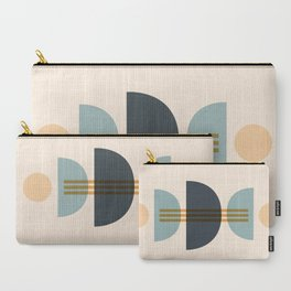 Sapphire Abstract Half Moon 1 Carry-All Pouch