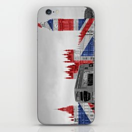 Big Ben, London Bus and Union Jack Flag iPhone Skin