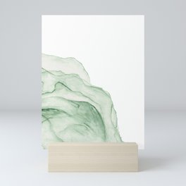 Printable Abstract Green Artwork, Watercolour Wall Art, Pastel Colour Artpiece Mini Art Print