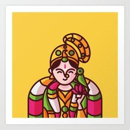 Srivilliputhur Andal Art Print