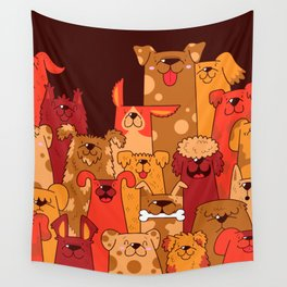Pile of Woofs Wall Tapestry